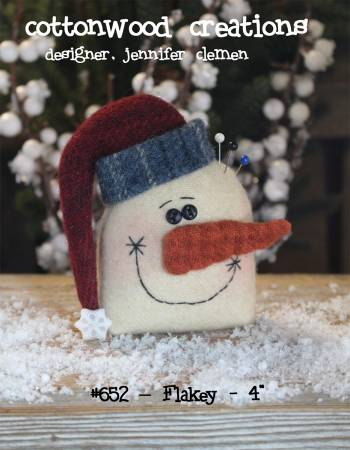 Flakey Pin Keep pattern by Cottonwood Creations^