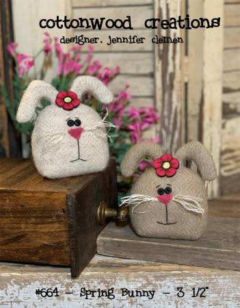 Cottonwood Creations Spring Bunny Wool Pincushion pattern