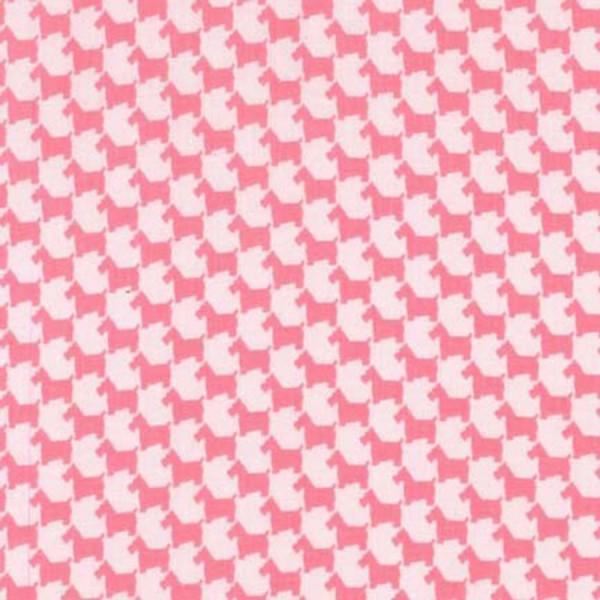 Pink Scottie Houndstooth