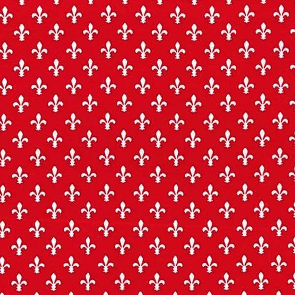 Fleur De Lis Red - Petite Paris