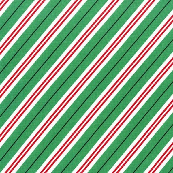 Evergreen Candy Cane Stripe Diagonal