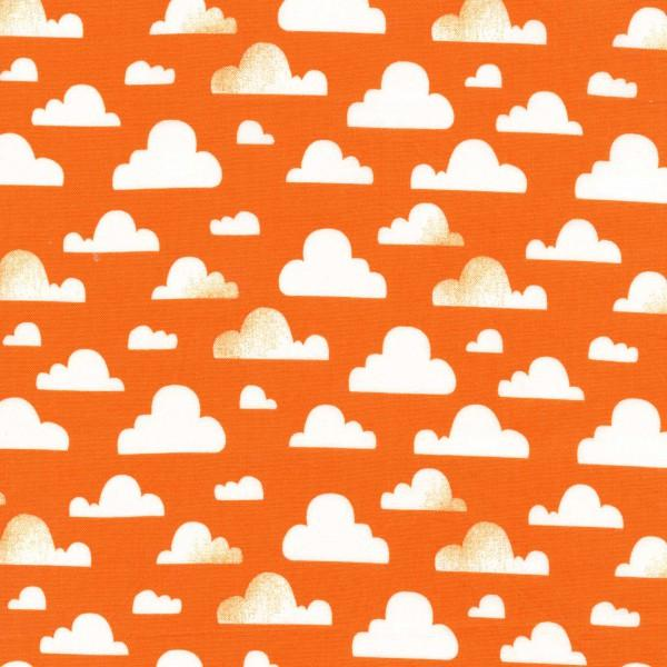 White Clouds on Orange:  Sunkissed Cloudy by Michael Miller Fabrics
