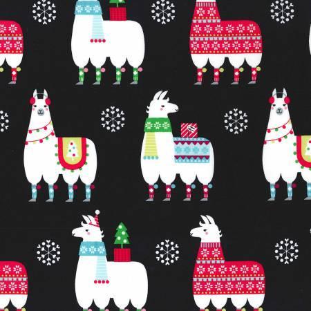 Llama Navidad- Black