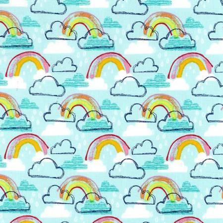 CX7604 Turquoise Rainbow Jubilee for Michael Miller Fabrics. 100% cotton 43 wide