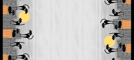 Hocus Pocus Stray Cat Strut Double Border grey