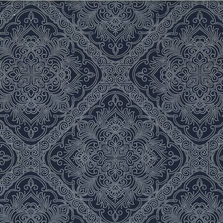 Beginnings Damask Navy