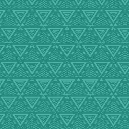 Teal Blue Triangle Geo