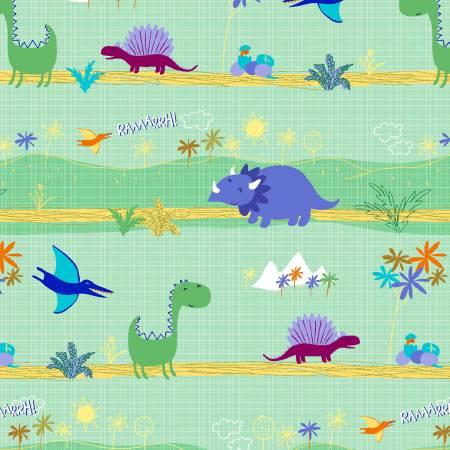 Dino World - Dinosaur Park Mint CX9023-Mint