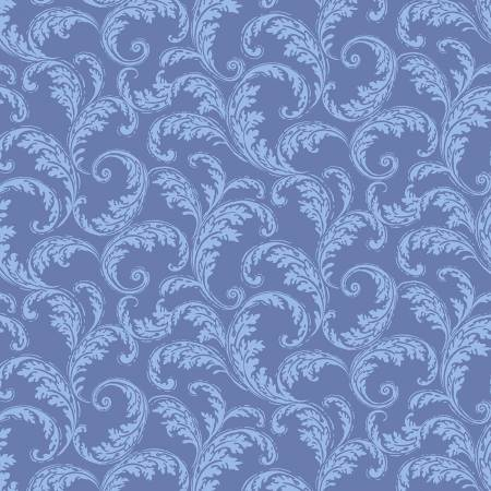 La Parisienne - Periwinkle French Scroll