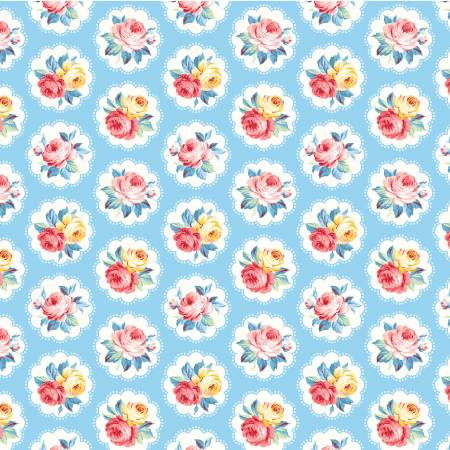 Blue Sunlit Days from the Country Cottage Collection by Michael Miller Fabrics