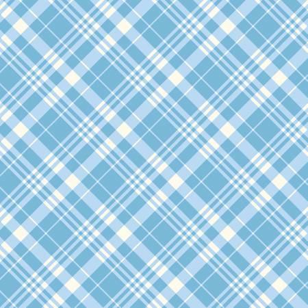 Blue Porch Plaid Fabric by Michael Miller