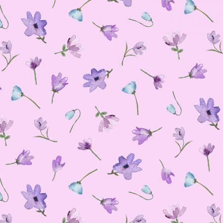 Mauve Watercolor Flowers