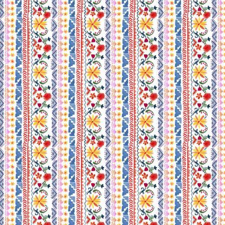 La Vida Loca - Siesta Stripe - White - 9420