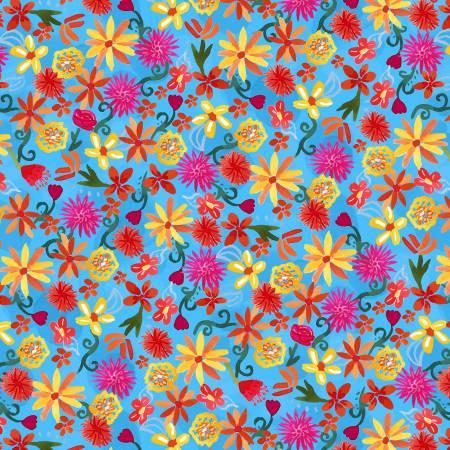 La Vida Loca - Flower Fiesta - Blue - 9421