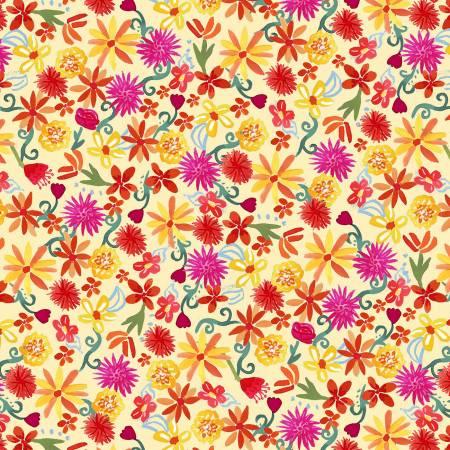 La Vida Loca - Flower Fiesta - Yellow - 9421