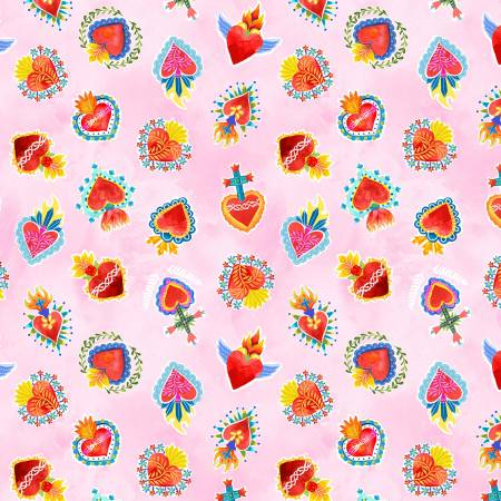 La Vida Loca - Sacred Heart - Pink - 9422