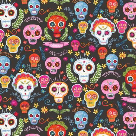 MM- Sugar Skulls Charcoal