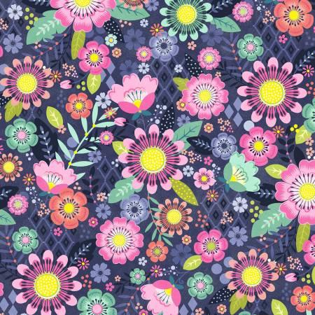 Bungalow Festival Floral 9499 Navy