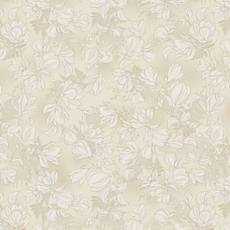 Cream Magnolia Toile CX9524 Crem by Michael Miller