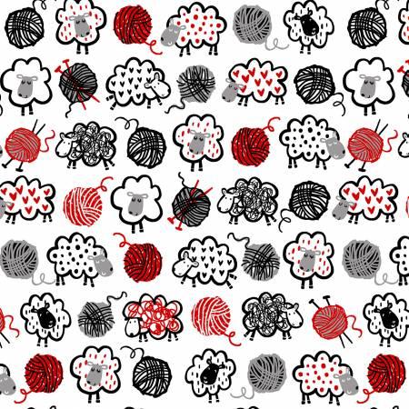 Do Ewe Knit - White - CX9548-WHIT-D
