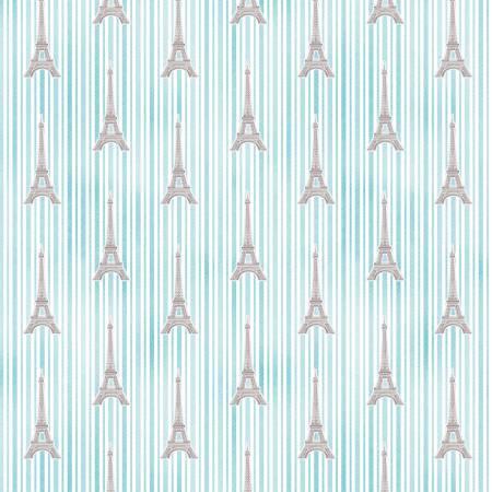 Michael Miller Air Aqua Eiffel Stripe