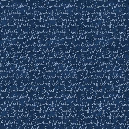 Land that I Love Sweet Land of Liberty Words 9710 Navy