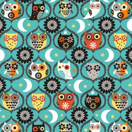 Hocus Pocus Owl Night Long teal