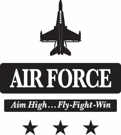 7in x 12in Air Force Creative Iron