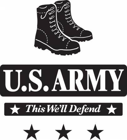 12in x 12in US Army Creative Iron