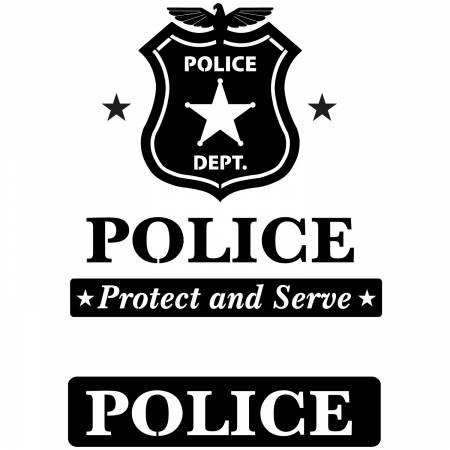 Police Creative Iron Fusible Applique
