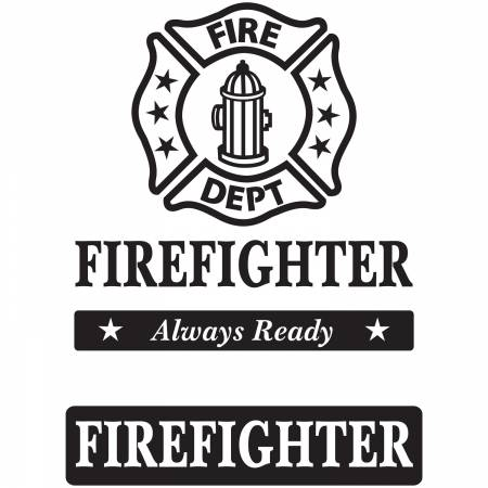 Firefighter Creative Iron Fusible Applique