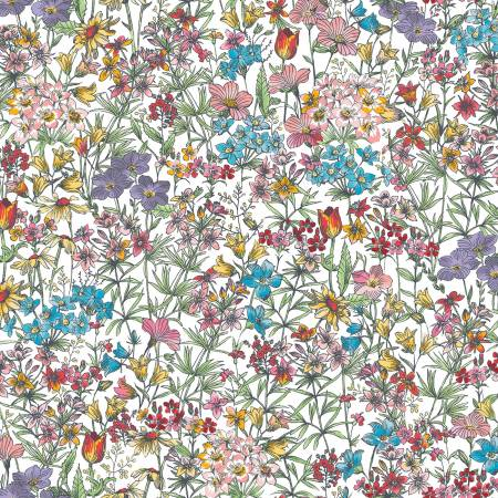 Meadow Edge White Small Packed Flower D10003M-W