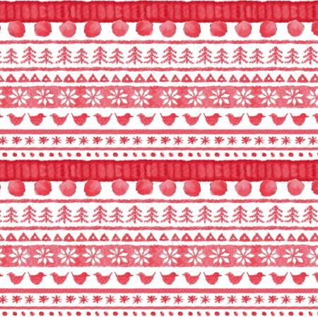 Warm Wishes Red Sweater Stripe Digital