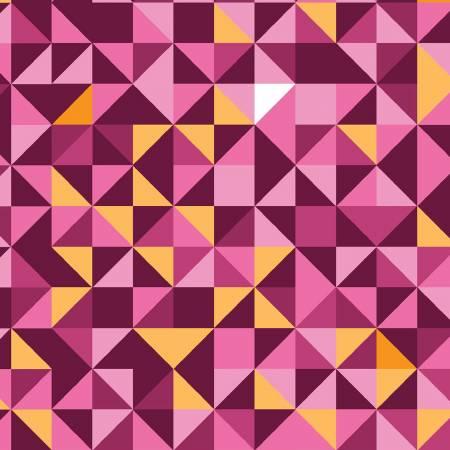 Pink to Orange Faceted Digital