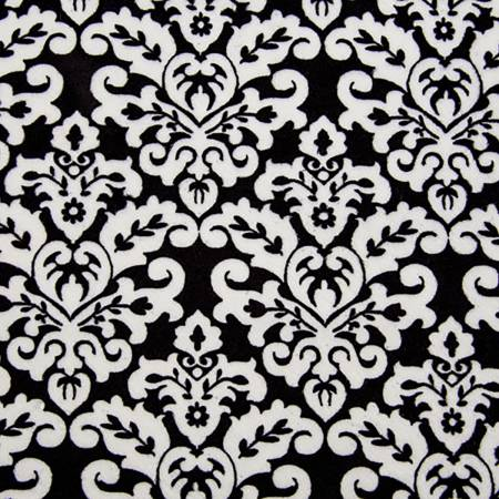 Damask Cuddle Black/Snow