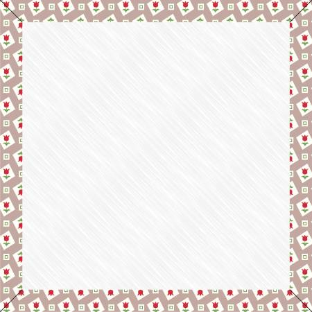 7-Inch Pewter Tulips Design Board