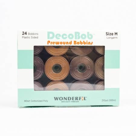 DecoBob Prewound Bobbins Size M 24ct Wood