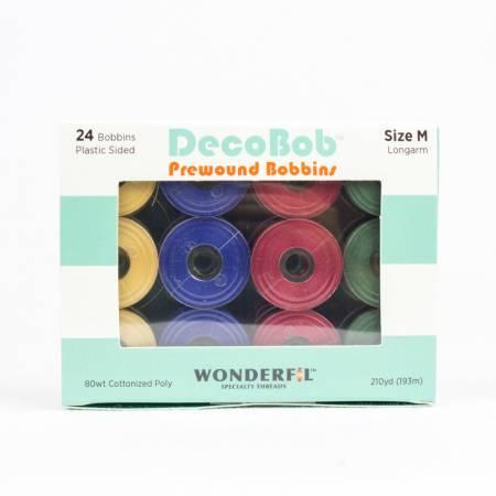 DecoBob Prewound Bobbins Size M 24ct Xmas