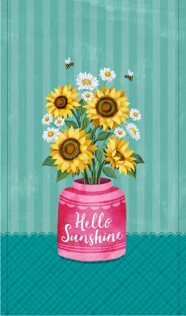 Turquoise Hello Sunshine Panel
