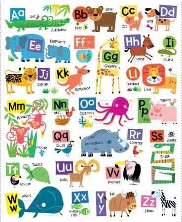 Animal Alphabet - White ABC 36 Panel