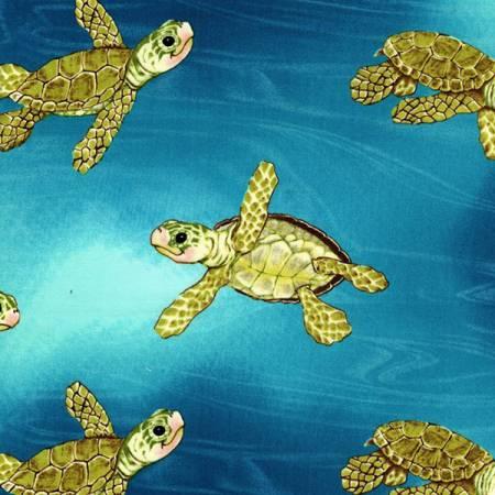 Aqua Surf's Up Turtles Cuddle