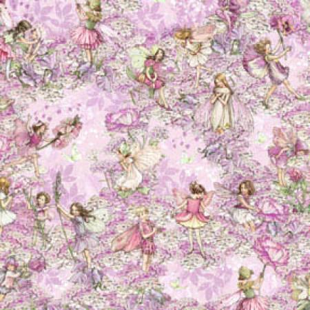 Petal Flower Fairies DC5057 -PINK-D All Over
