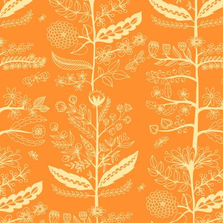 Delight - Charmed, Orange - by TamaraKate for Michael Miller Fabrics