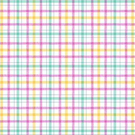 Honey Bunny Pink Plaid Play Cotton
