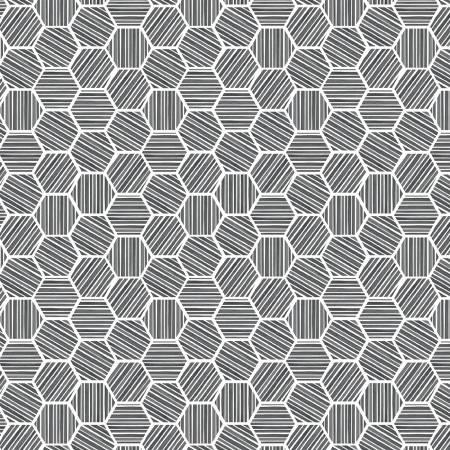 Queen Bee Hexagons Charcoal