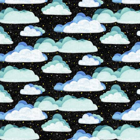 Hula Universe Black Space Clouds