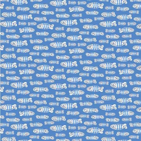 Blue School of Fish