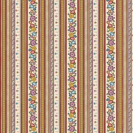 Multi Floral Stripe