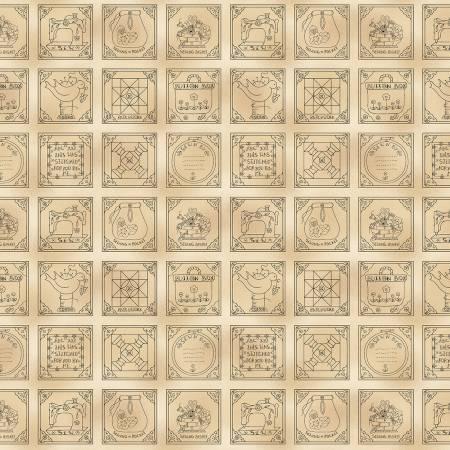 Patchwork Piecing Squares - DC9434-BEIG-D