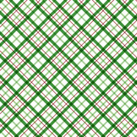 Grandma's Xmas Wish DC9591 Green Yuletide Plaid